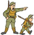 Military Child and Adult Color Illus