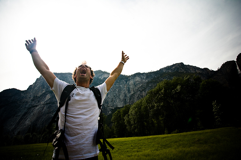 Accomplihsment Hiker Arms Outstretched Joy