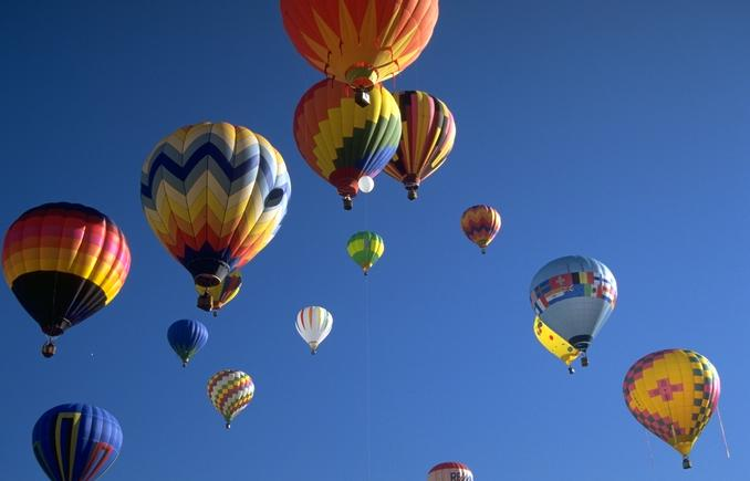 Hot Air Balloons Several in Sky