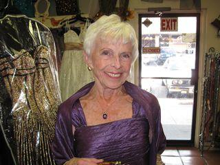 Mary Roush in Academy Awards Dress