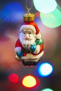 Christmas Santa Claus Ornament Close Up