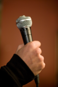 Workshops Hand With Microphone