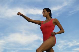 Woman Power Martial Arts Move