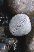 Spirituality Blessings Rock