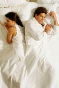 Conflict Facing Away in Bed